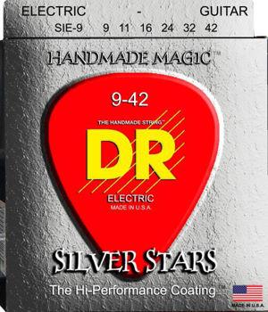 Image de JEU Cordes Electrique DR SILVER STARS 09-42 Revêtement Made in USA