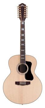 Image de Guitare Folk 12 CORDES Acoustique GUILD Serie Westerly Jumbo F-1512 Naturelle + Housse