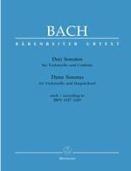 Picture of BACH JS SONATES 3 BWV 1027-29  Violoncelle/bc