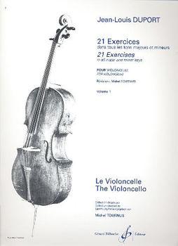 Image de DUPORT 21 Exercices dans tous les tons maj min  V1 Violoncelle