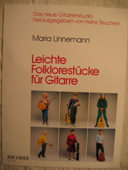 Picture of LINNEMANN LEICHTE FOLKLORESTU.RICORDI Guitare Classique