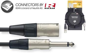 Image de Cable Ligne JK male Mono XLR male 01M