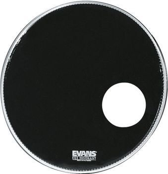 "Picture of EVANS PEAU 20"" EQ3 PERCEE NOIRE TIMBRE GC"