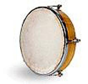"""Picture of Tambourin 8"""" PEAU NATURELLE 20cm"""