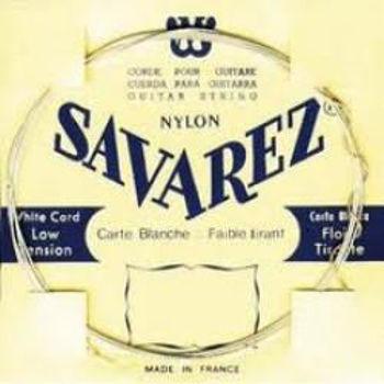 Picture of JEU CORDES Guitare Classique SAVAREZ Carte Blanche Tension Faible