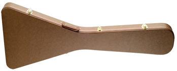 Image de ETUI Guitare Electrique BOIS FLYING V STAGG BRUN Deluxe