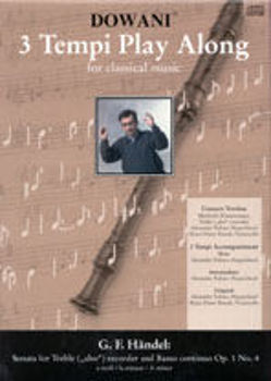 Picture of HAENDEL SONATA OP1 N4 Flute à bec Alto Format A5 +2CDS Gratuits