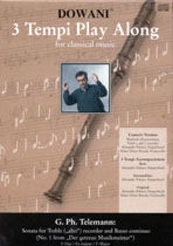Picture of TELEMANN SONATA N1 Flute à bec Alto Format A5 +2CDS Gratuits
