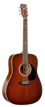 Picture of Guitare Folk acoustique ART & LUTHERIE Dreadgnouht Table Cèdre Massif Antique sunburst