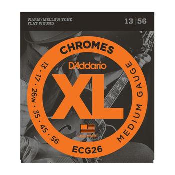 Picture of JEU Cordes electrique Filé Plat D'ADDARIO Chrome MEDIUM 13/56