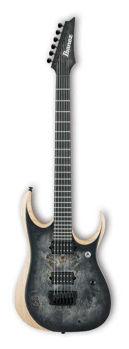 Picture of Guitare Electrique Baryton IBANEZ Serie RG Iron Label RGDIX6PB Surreal Black Burst D/ 1D, 2A, 3F, 4C, 5G, 6D