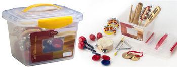 Image de KIT PERCU ENFANTS Petites Percussions+ BOITE PLASTIQUE
