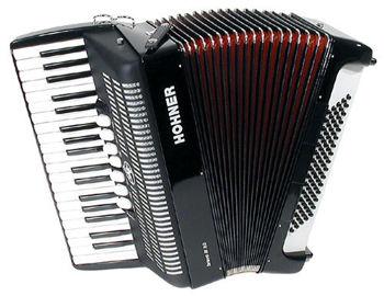 Picture of Accordeon Chromatique HOHNER BRAVO III 80B noir touche piano