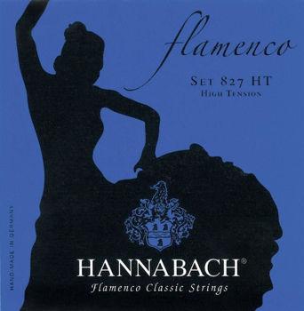 Image de JEU CORDES Guitare Classique FLAMENCO HANNABACH Serie 827 High Tension