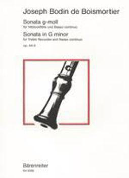 Image de BOISMORTIER SONATE GMIN OP44/4 pr altblockflöte et basse continue