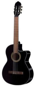 Picture of Guitare Classique Electro Acoustique GEWA PURE 4/4 Noire Brillante