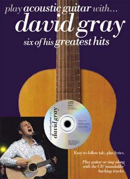 Image de GRAY DAVID PLAY ACOUSTIC Guitare with tabl + CD