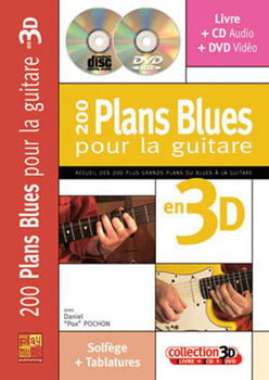Picture of 200 PLANS BLUES GUITARE POCHON D. en 3D +CD+DVD Gratuits