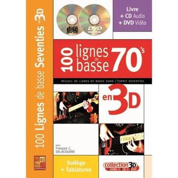 Picture of 100 LIGNES DE BASSE Années 70'S EN 3D DELACOUDRE +CD +DVD Gratuits,