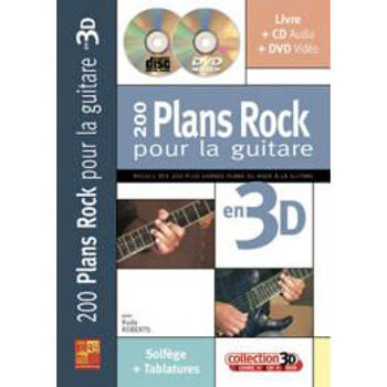 Picture of 200 PLANS ROCK Pour la Guitare EN 3D ROBERTS R. +CD+DVD Gratuits