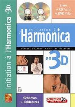 Image de INITIATION HARMONICA EN 3D ZLAP Greg +CD +DVD Gratuits