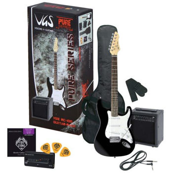 Picture of Guitare Electrique Pack VGS avec ampli et accessoires  (Noir)