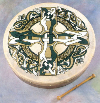 "Image de BODHRAN 18"" WALDONS CELTIC modèle Cross PACK (housse +CD)"