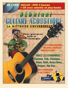 Picture of DEBUTANT GUITARE ACOUSTIQUE Methode +CD/DVD Gratuits Tab