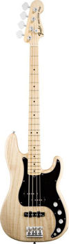 Picture of Guitare Basse FENDER American Deluxe PRECISION Ash Mapple Naturel +étui D/