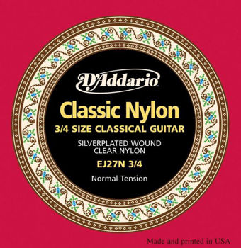 Picture of JEU CORDES Guitare Classique 3/4 D'ADDARIO NYLON T.Normal