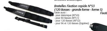 Image de Bretelles ACCORDEON 80 BASSES HOHNER  N°51 Noires +dorsales