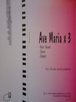 Picture of AVE MARIA x 3 BACH-GOUNOD/CACCINI/SCHUBERT Flûte Traversière Piano