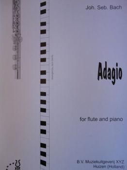 Picture of BACH ADAGIO Flûte Traversière Piano