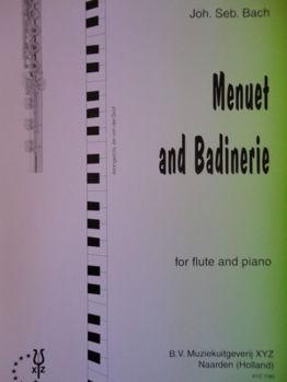 Picture of BACH MENUET ET BADINERIE Flûte Traversière Piano