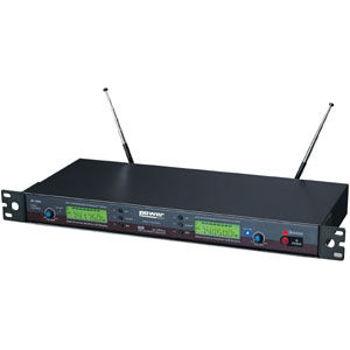 Image de DOUBLE RECEPTEUR UHF MVL5028 avec 1 micro main & 1 micro serre tête