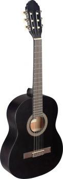 Image de Guitare Classique 3/4 Tilleul Noir Mat