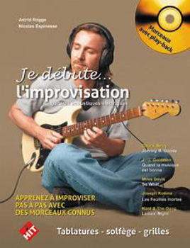 Picture of JE DEBUTE L'IMPROVISATION A LA GUITARE ROGGE/ESPINASSE +CDgratuit