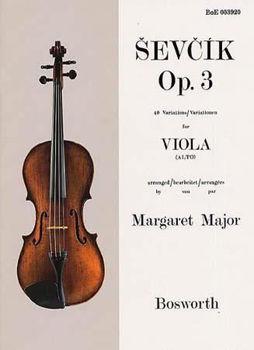 Image de SEVCIK Viola OP3 40 VARIATIONS alto