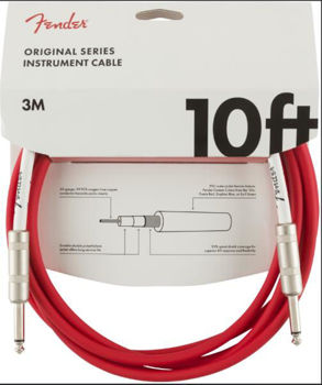 Image de Cable Instrument 03M JK / JK  FENDER Original FIesta Red