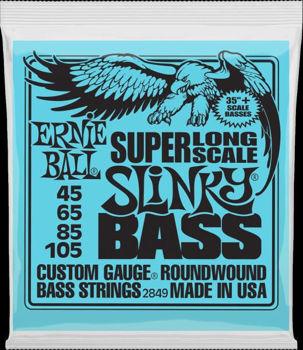 Image de JEU Cordes Basse Long Scale ERNIE BALL SLINKY 45-105