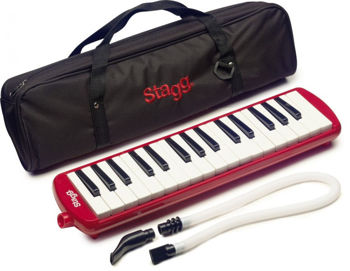 Image de MELODICA PIANO 32 TOUCHES STAGG +Housse Rouge