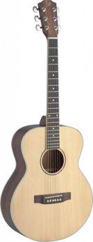 Picture of Guitare de Voyage Folk Acoustique James Nelligan Epicéa Massif +Housse