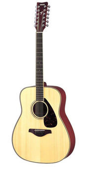 Picture of Guitare Folk 12 cordes acoustique YAMAHA FG820 Epicéa Massif Naturelle