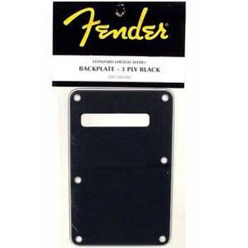 Image de PLAQUE ARRIERE pour guitare FENDER STRAT Noire 1pli