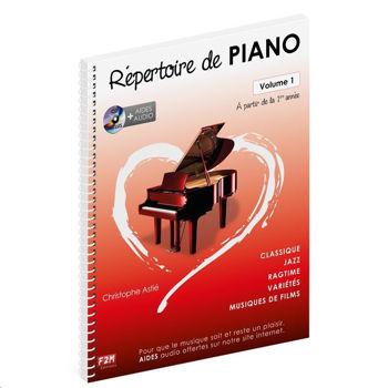 Image de REPERTOIRE DE PIANO VOL1 C.ASTIE +CDgratuit Méthode de Piano