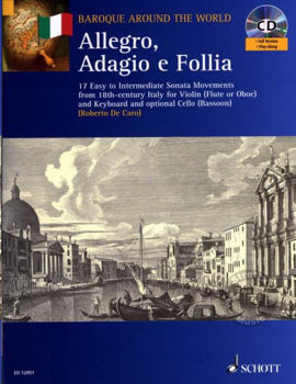 Picture of ALLEGRO ADAGIO E FOLLIA 17 EXTRAITS SONATES Violon +CDgratuit