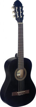 Image de Guitare Classique 1/2 Tilleul Noir Mat convient à l'enfant