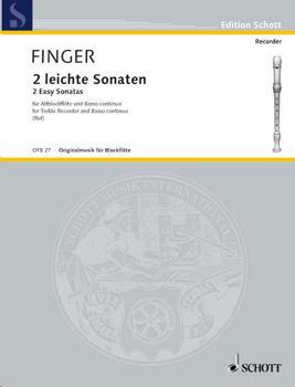 Image de FINGER 2 SONATES FACILES FLUTE A BEC + accompagnement