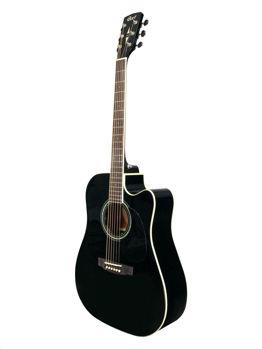Image de Guitare Folk Electro Acoustique CORT Serie MR-710F-BK Noir Brillant Epicéa Massif