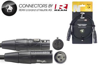 Image de Cable Lumière DMX 01M XLR/XLR 3 Broches